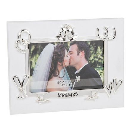 Mr and Mrs Wedding Bells Frame 6x4